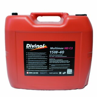 Divinol Multimax HD C3 SAE 15W-40, 20 Liter